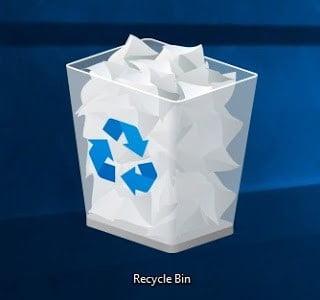 kontrol recycle bin