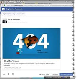 Snippet Facebook, snippet error