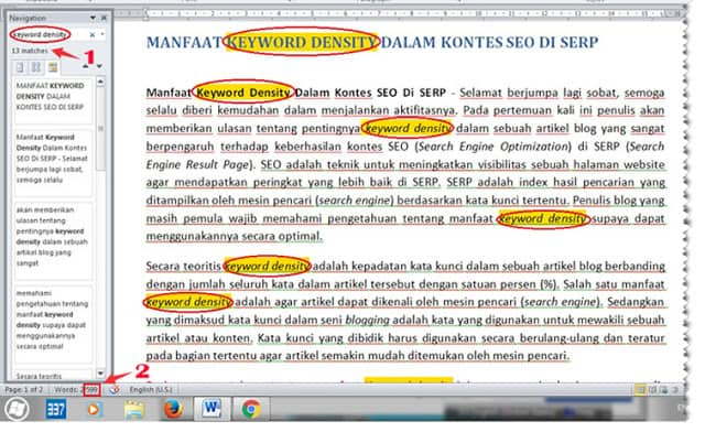 mencari keyword density