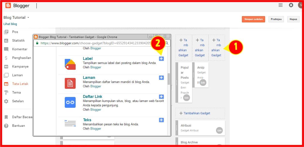 Pengaturan navigasi situs