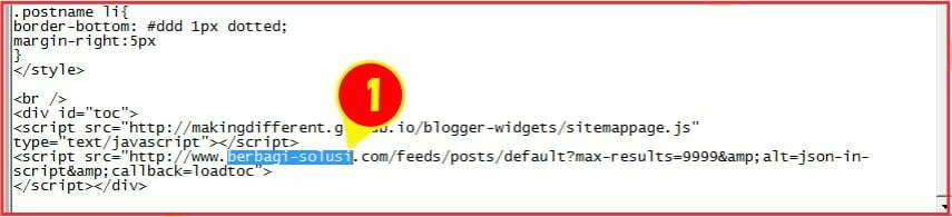 membuat sitemp pada blog