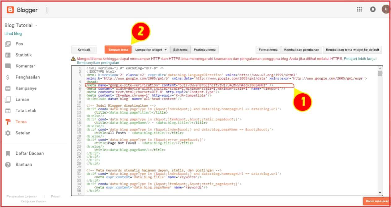daftar Google Webmaster Tools