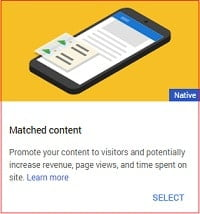 Matched Content AdS