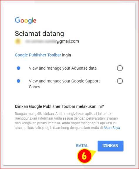 Permintaan otorisasi dari Bot Google Publsher Toolbar ke AdSense.jpg