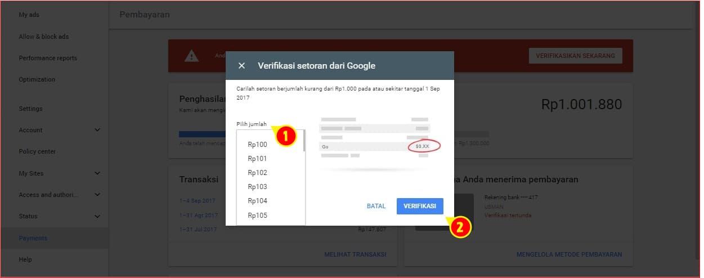 Halaman verifikasi rekening pembayaran AdSense.jpg