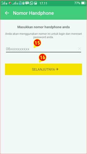 Input Nomor Handphone ke Aplikasi BPJSTK Mobile.jpg