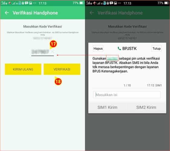 Verifikasi Nomor Hanphone Aplikasi BPJSTK Mobile.jpg