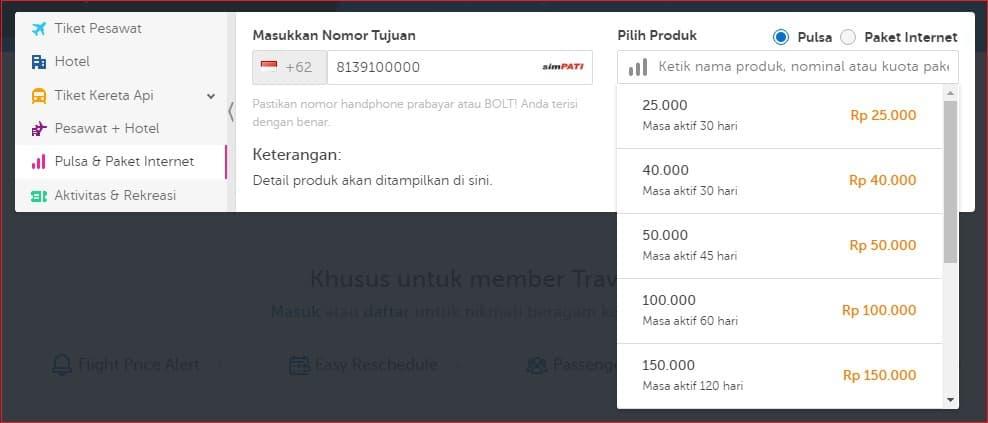 Navigasi Transaksi Paket internet dan pulsa murah di Traveloka.jpg