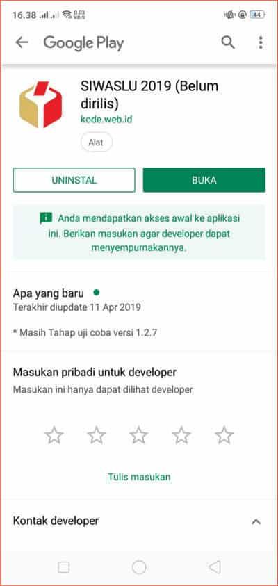 Tamppilan SIWASLU 2019 setelah menekan tombol UPDATE.jpg