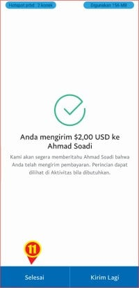 Informasi transaksi paypal