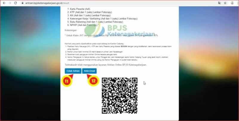 Mencetak antrian online pelayanan pencairan JHT BPJS Ketenagakerjaan.jpg