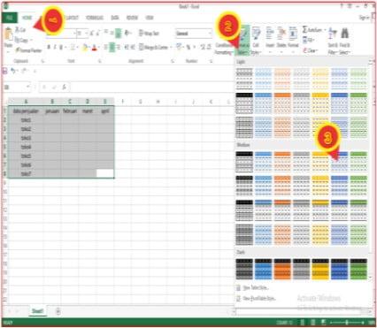 cara membuat tabel di microsoft excel dengan fitur format as table.jpg