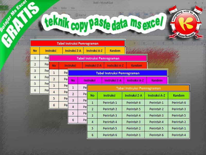 Mahir Belajar Teknik Cut, Copy dan Paste Pada Misrosoft Excel.jpg