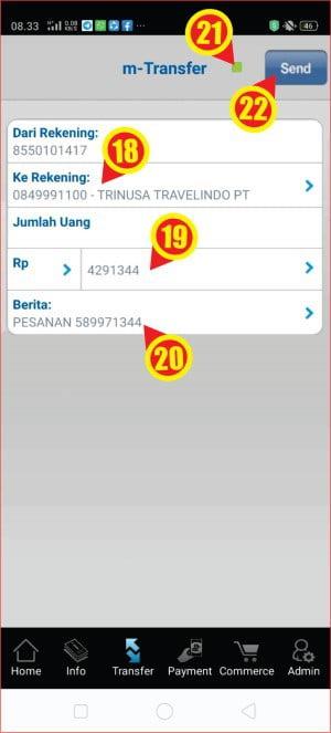 cara membayar tiket pesawat di Traveloka via m-BCA