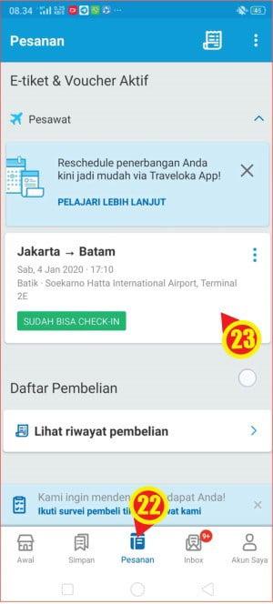 Folder informasi tiket pesanan pada aplikasi Traveloka.jpg