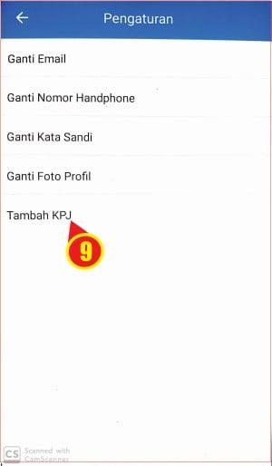 Letak tombol tambah KPJ pada aplikasi BPJSTKU.jpg
