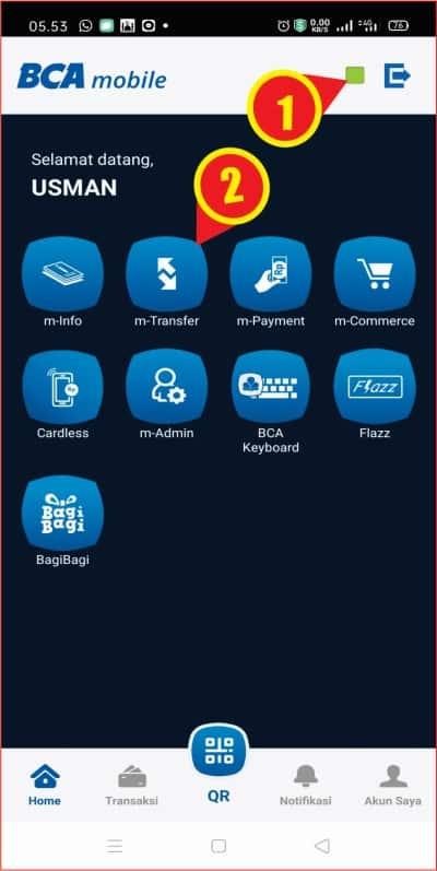 Tampilan beranda aplikasi m-BCA.jpg