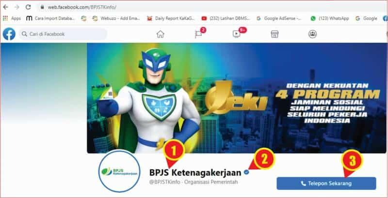 tampilan halaman resmi Facebook BPJS Ketenagakerjaan.jpg