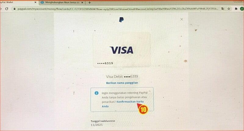 validasi kartu kredit pada akun Paypal.jpg