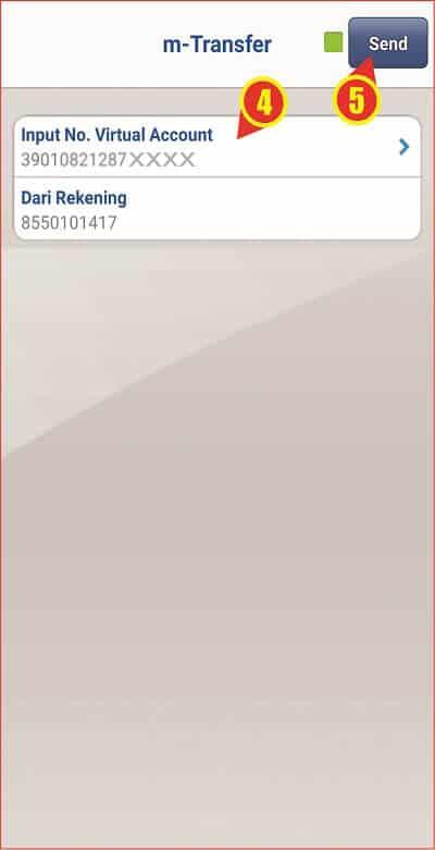 Halaman input nomor Virtual Account pada BCA Mobile.jpg