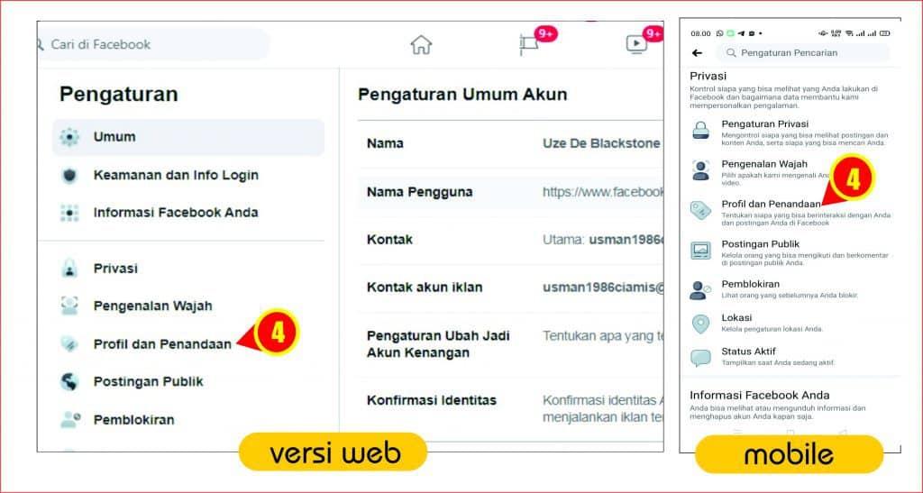 Navigasi profile dan penandaan pada akun facebook.jpg