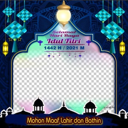 Twibbon Ucapan Idul Fitri 1442 H (2021 M) Rainbow Lighting Diamond Luxury.JPG