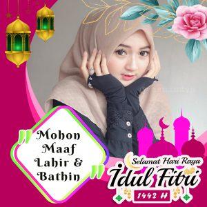 Twibbon Ucapan Lebaran  Pinky Flower Diamond.jpg