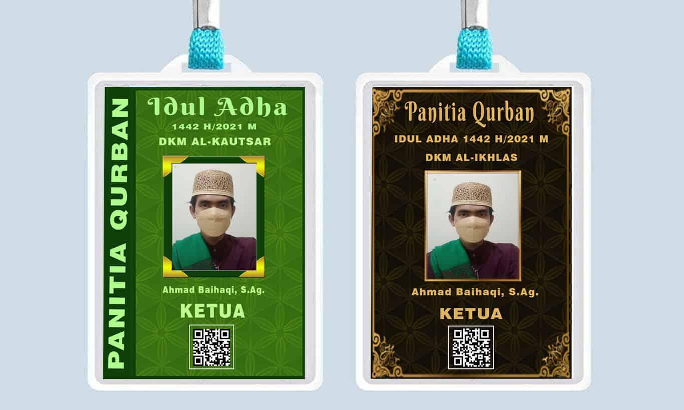 contoh id card panitia qurban idul adha 1442 H/2021 M