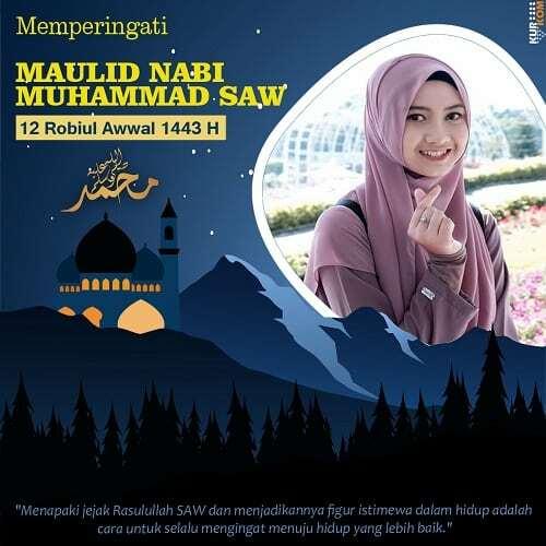 twibbon bertema maualid Nabi SAW 1443 Hijriyah.jpg